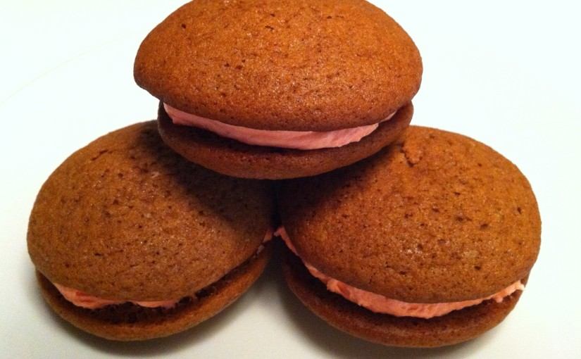 whoopie pies with marshmallowfilling