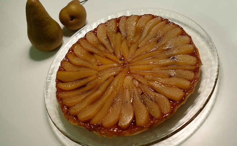 pear tarte with vanilla and ginger