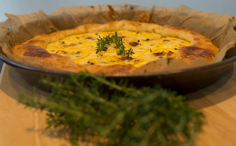 tarte with zucchini andricotta
