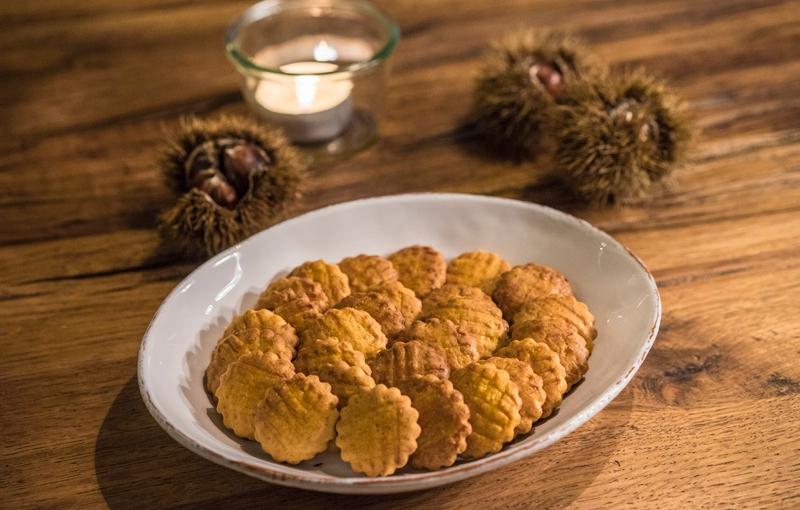 sablés with chestnutpurée